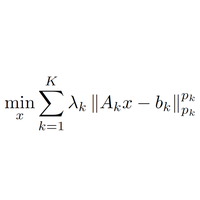 Fast General Norm Approximation via Iteratively Reweighted Least Squares